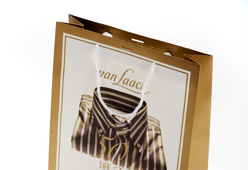 van Laack, mit Golddruck, mattkaschiert